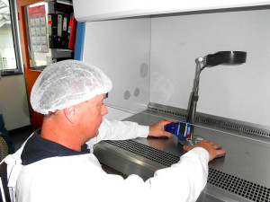 air-velocity-readings-in-progressin-a-class-2-biological-safety-cabinet